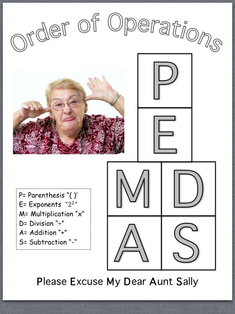 PEMDAS, Order of Operations, Math | school stuff | Pinterest
