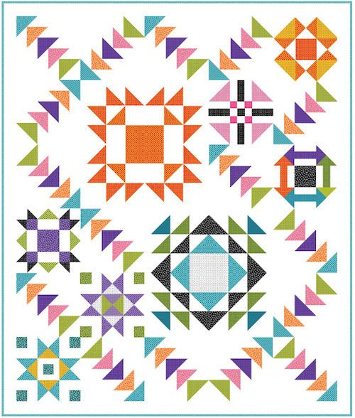 Urban Basix Block of the Month LQK17066 | sew clever | Pinterest ... : quilt sew clever - Adamdwight.com