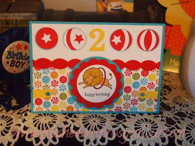Flushed With Rosy Colour Birthday Card For A 2 Year Old Boy