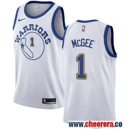 dfde9a888a9 Golden State Warriors #1 JaVale McGee White Nike NBA Men's Jersey Hardwood  Classics