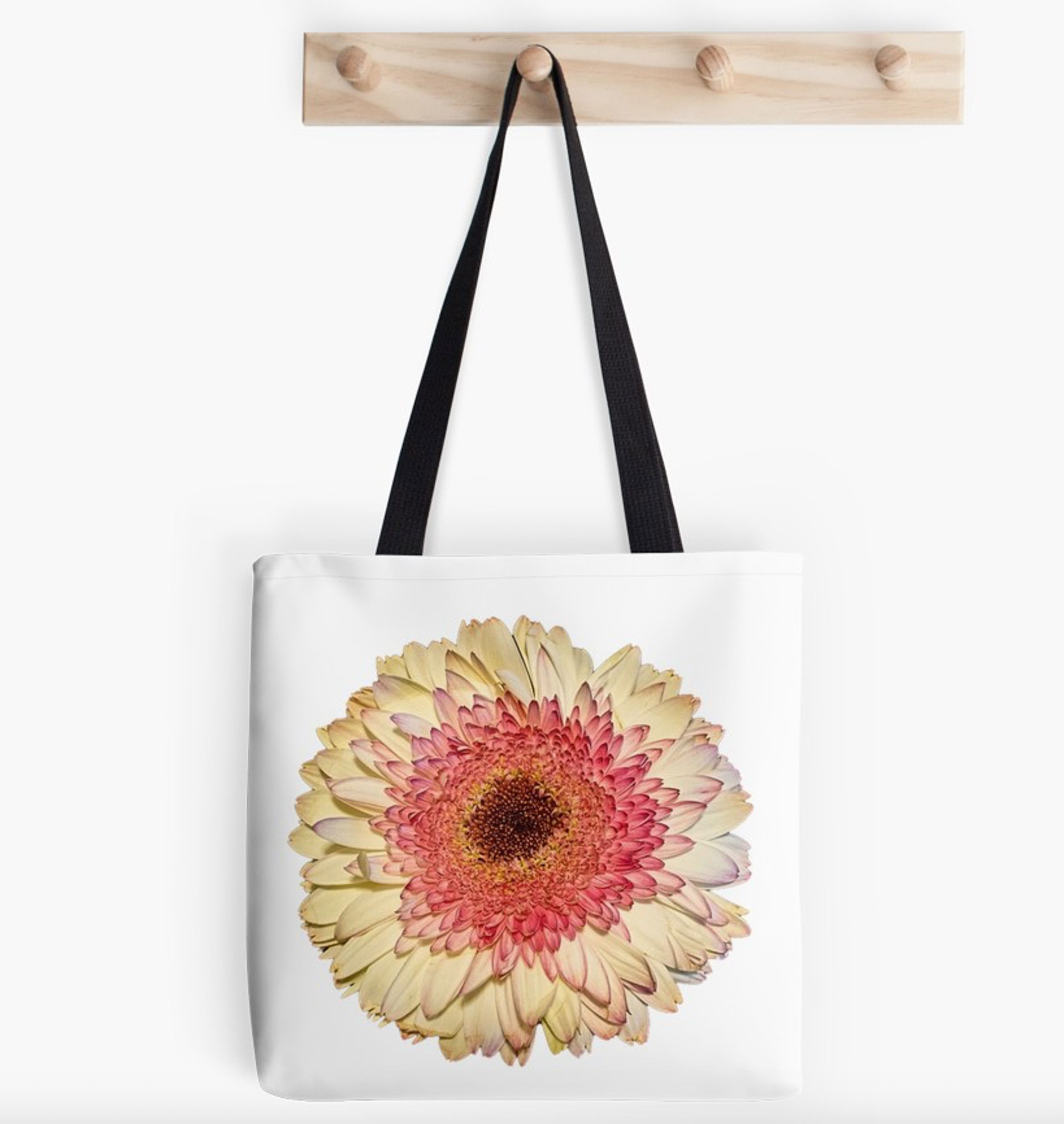 Pastel Gerber Daisy Flower Blooming Tote Bag By Jacqueline Cooper