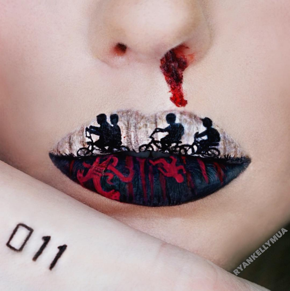 Stranger Things lip art by RyanKellyMUA Lip art, Lip