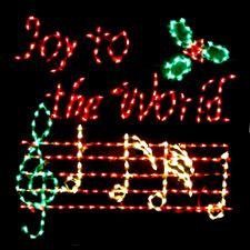 Outdoor Christmas Joy To The World Display
