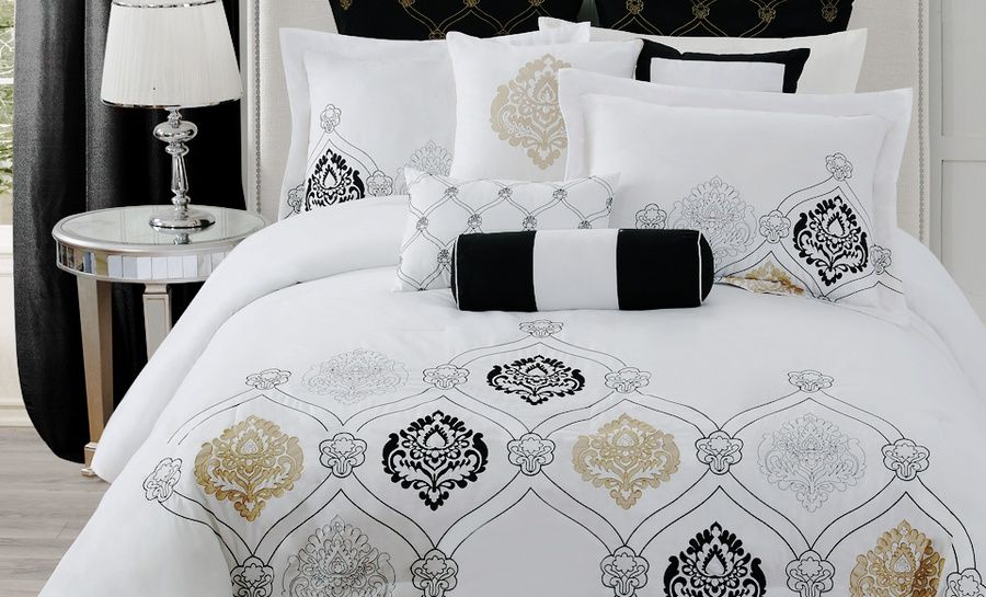 gold black and white bedding  black and white bedspreads