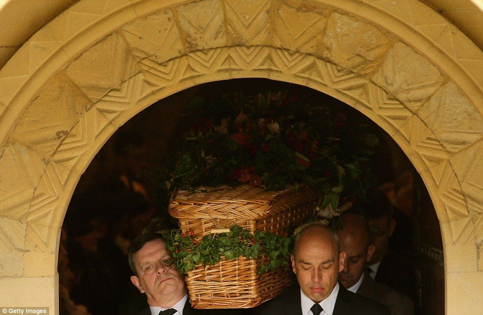 Her coffin was adorned with woodland foliage, showing the Dowager's love for the Derbyshi...