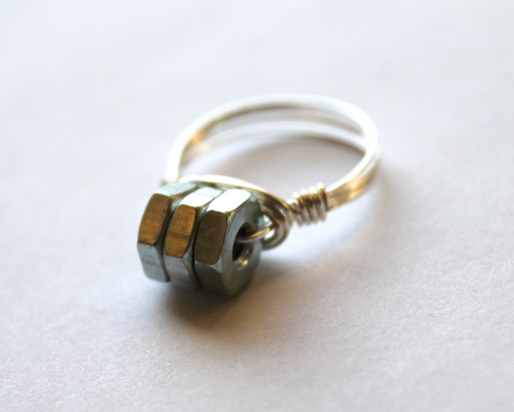 Hardware Wire Wrapped Ring | Hardware Jewelry | Pinterest | Wire ...