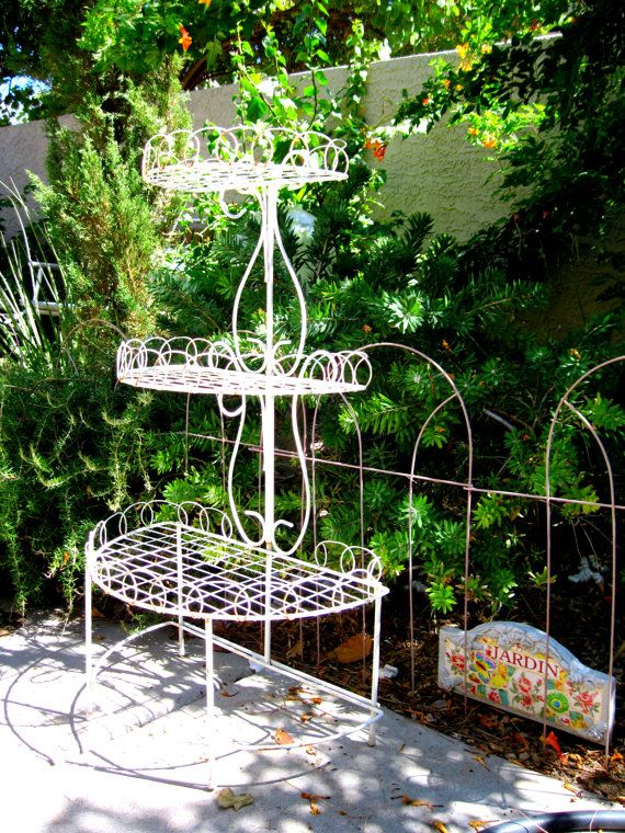 SPRING Home And Garden Vintage Plant Stand Home By PrettyDuzz, $125.00