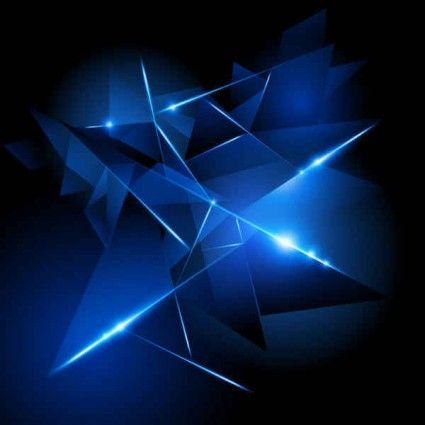 Abstract glow Vector background | Things to Wear | Blue