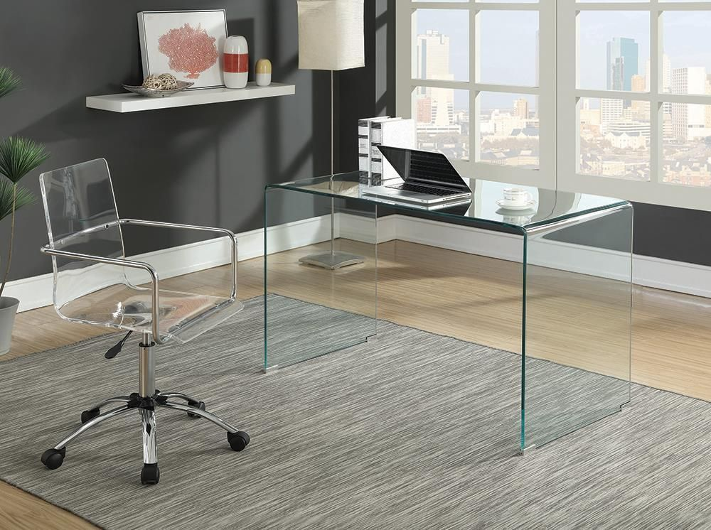 Photo of Amaturo Collection – Amaturo Office Chair With Casters Clear And Chrome