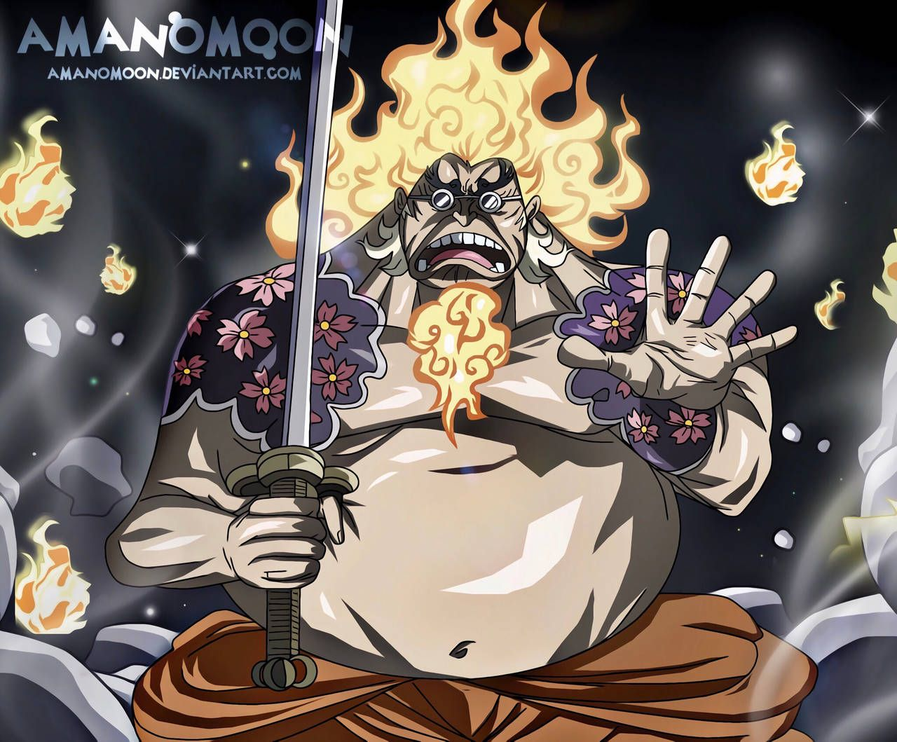 One Piece Chapter 935 Hyogoro of the Flowers Fire by
