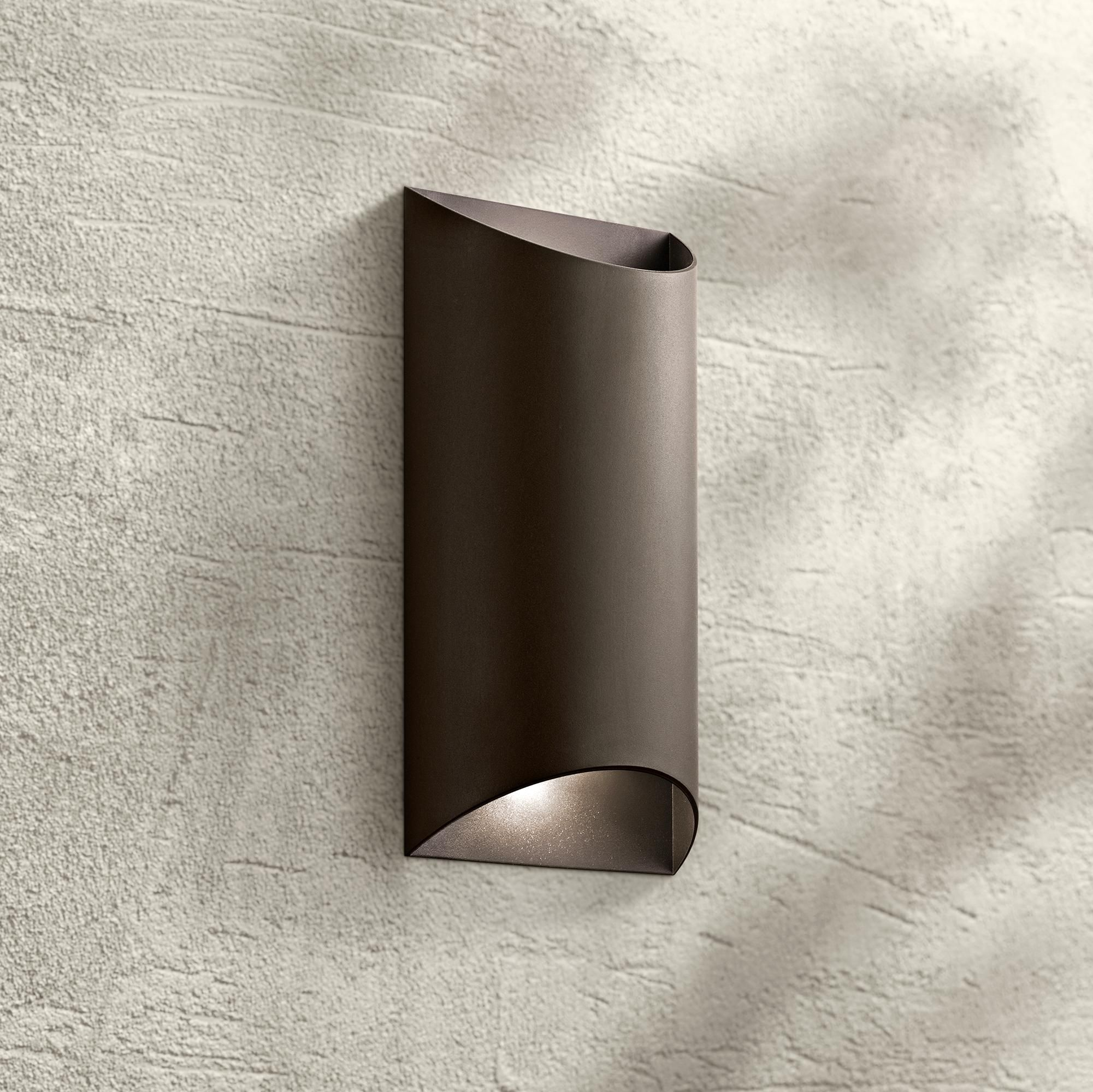 led bronze outdoor wall light
