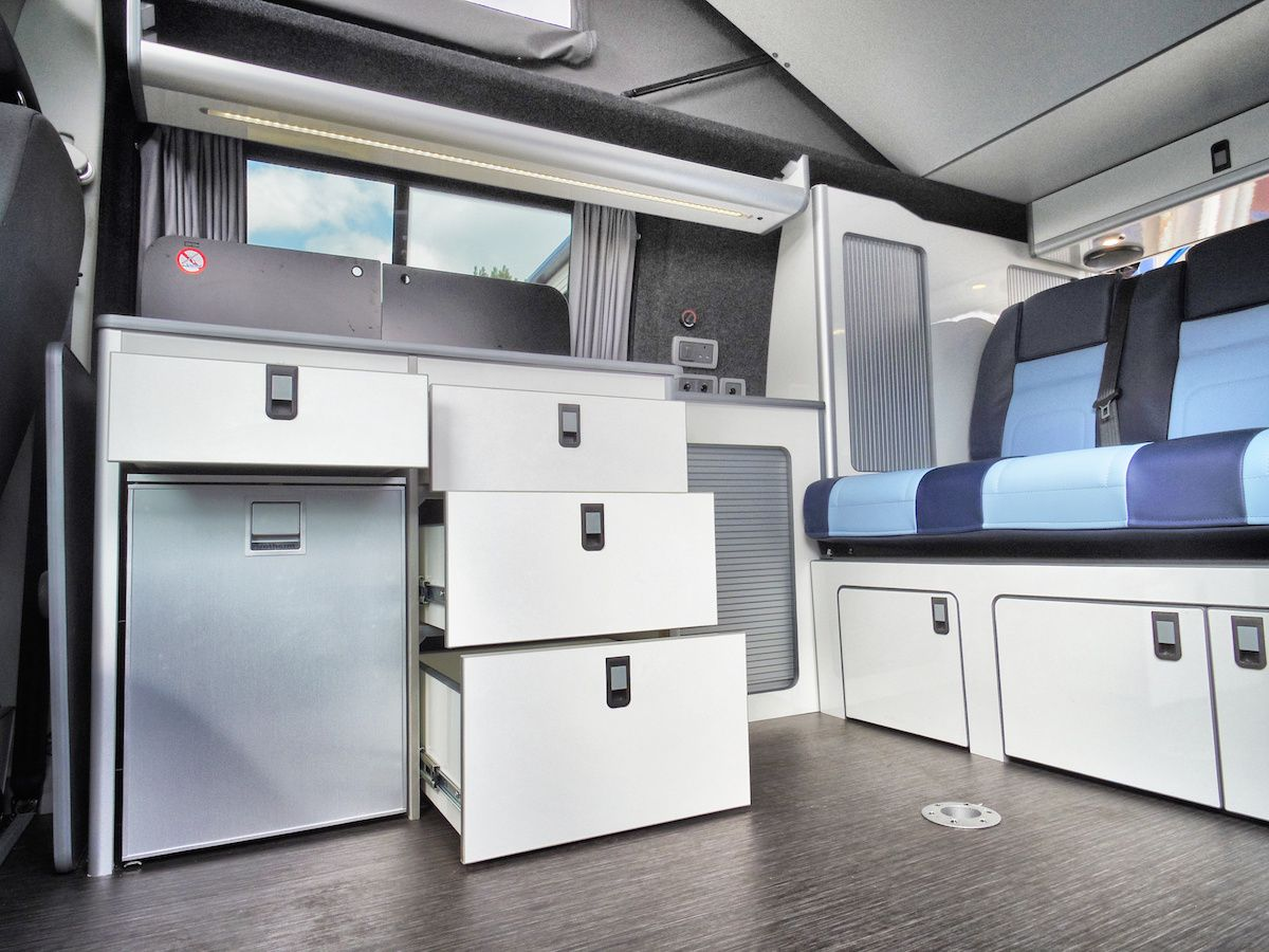 Conversion Gallery | VW T5 Campers | Kitchen Pods | Flat Pack | EVO ...