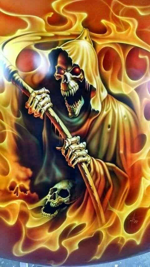 Skulls Galore Danamichele Grim Reaper Art Skull Art