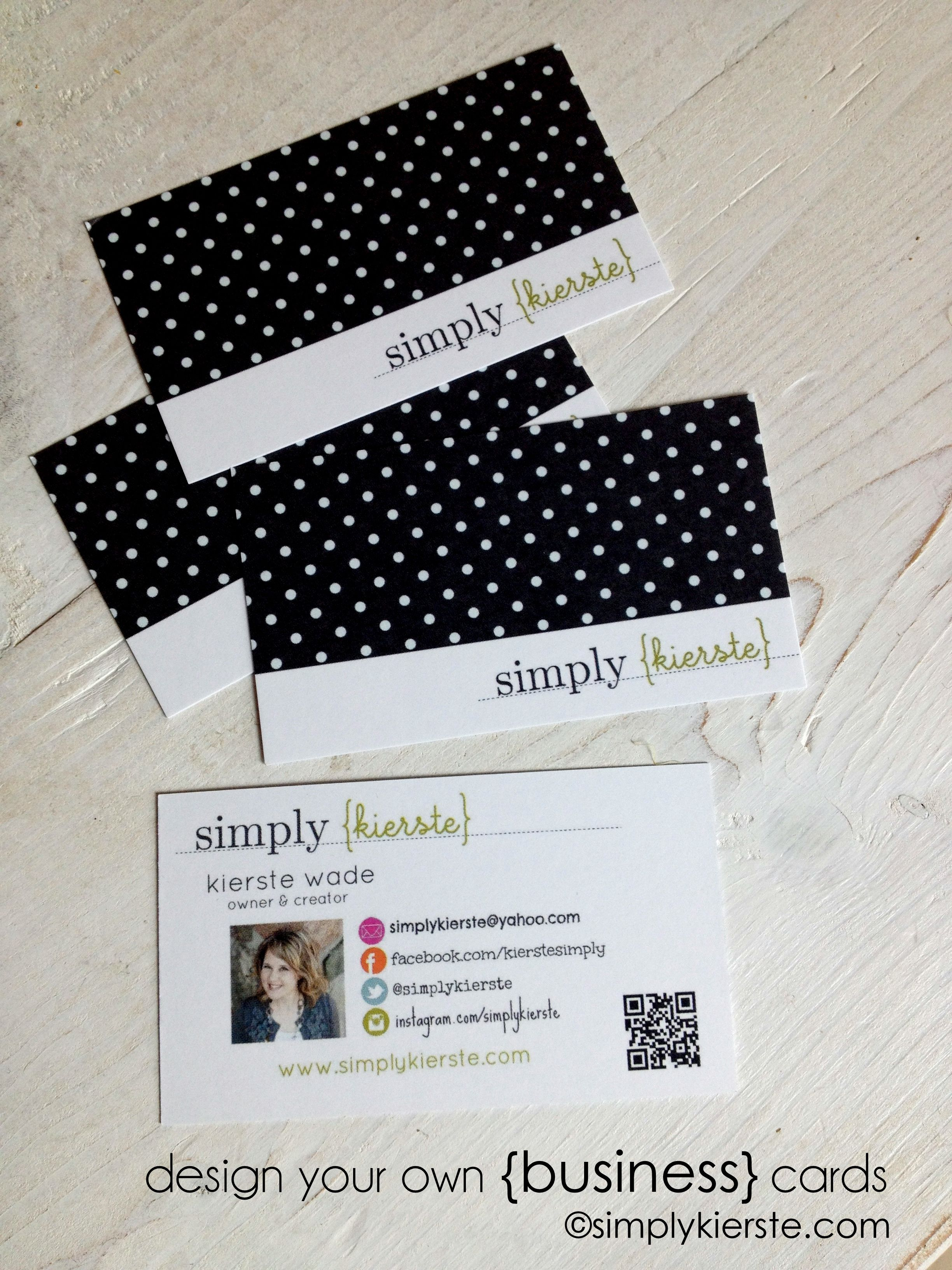 How To Design Your Own Business Cards Diy Pinterest Business