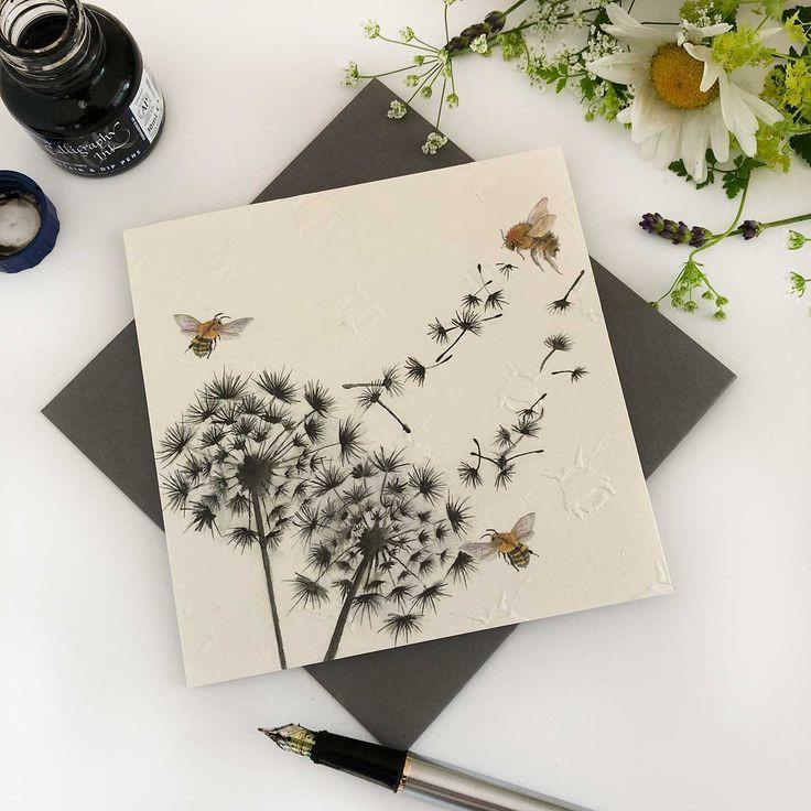 dandelion clock greeting cardbritish artist sarah