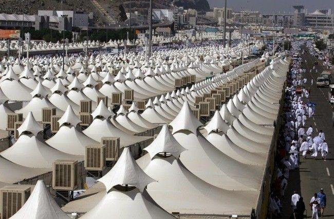 The Neverending Tent City Of Mina Saudi Arabia Mecca Tent Pilgrimage To Mecca