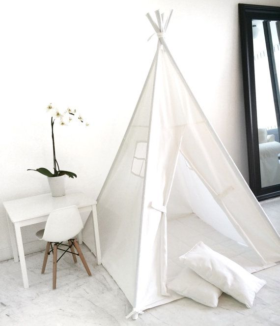 Childrenu0027s Play Tent Teepee Handmade for Kids by DomesticObjects : childrens play tents teepees - memphite.com
