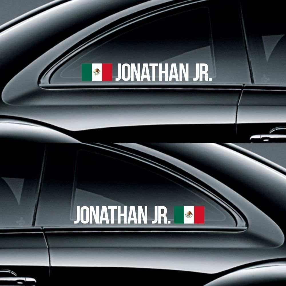 Rnb002 mexico racing custom name sticker flag decal drift classy stance fitment infinity270