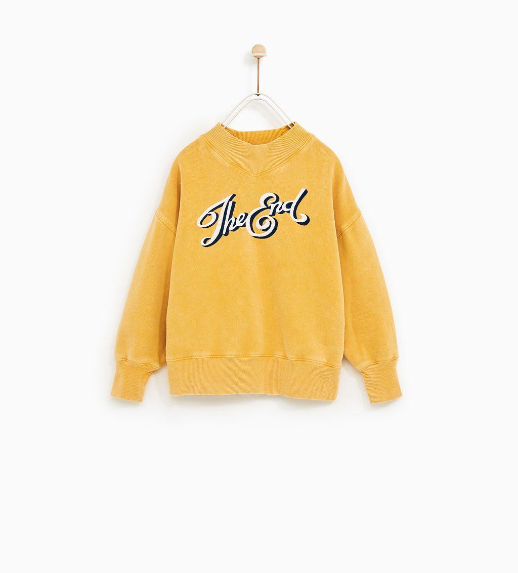 SUDADERA MANGAS BORREGUILLO | Zara kids, Girls sweaters