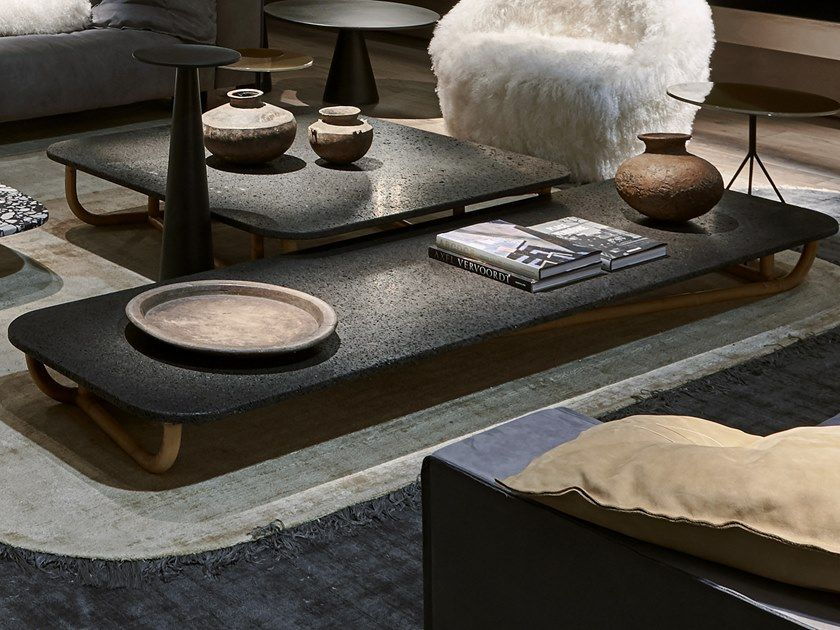 Low Rectangular Coffee Table For Living Room Malacca By Baxter Design Paola Navone Rectangular Coffee Table Living Room Table Coffee Table