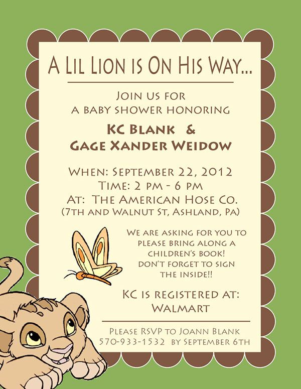Lion King Baby Shower Invite On Behance Baby Lion King