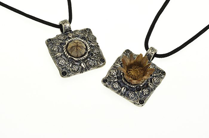 Free shipping buy now old silver color Square pendant at $37