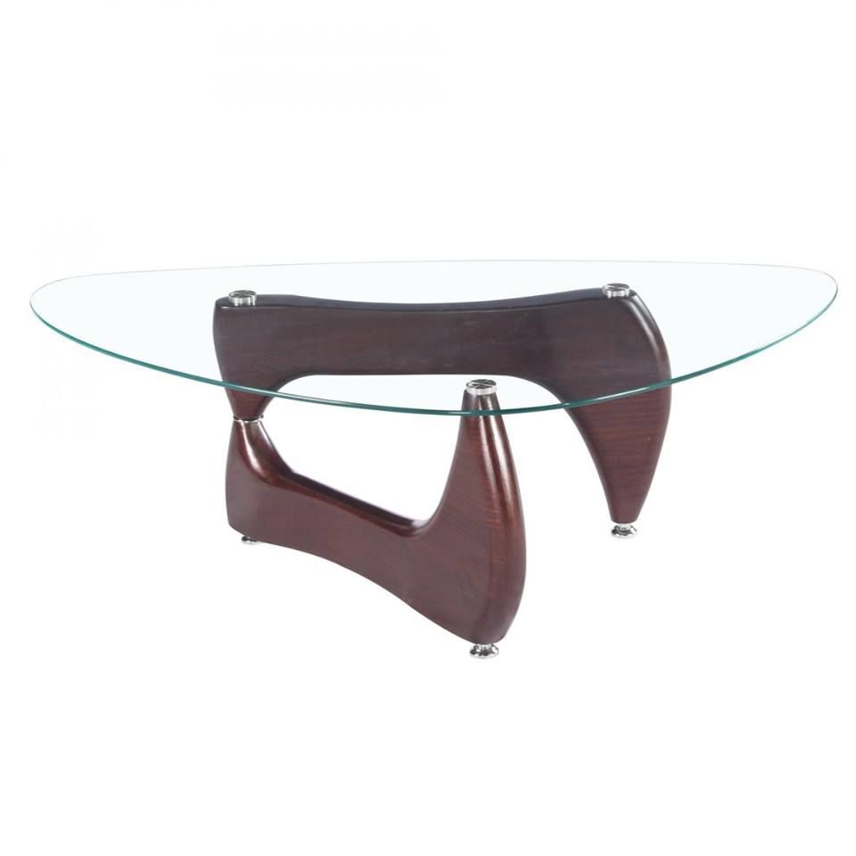 Stylish Noguchi Style Glass Coffee Table With Red Gloss Legs By Gravity Decor Coffee Table Glass Coffee Table Coffee Table Images