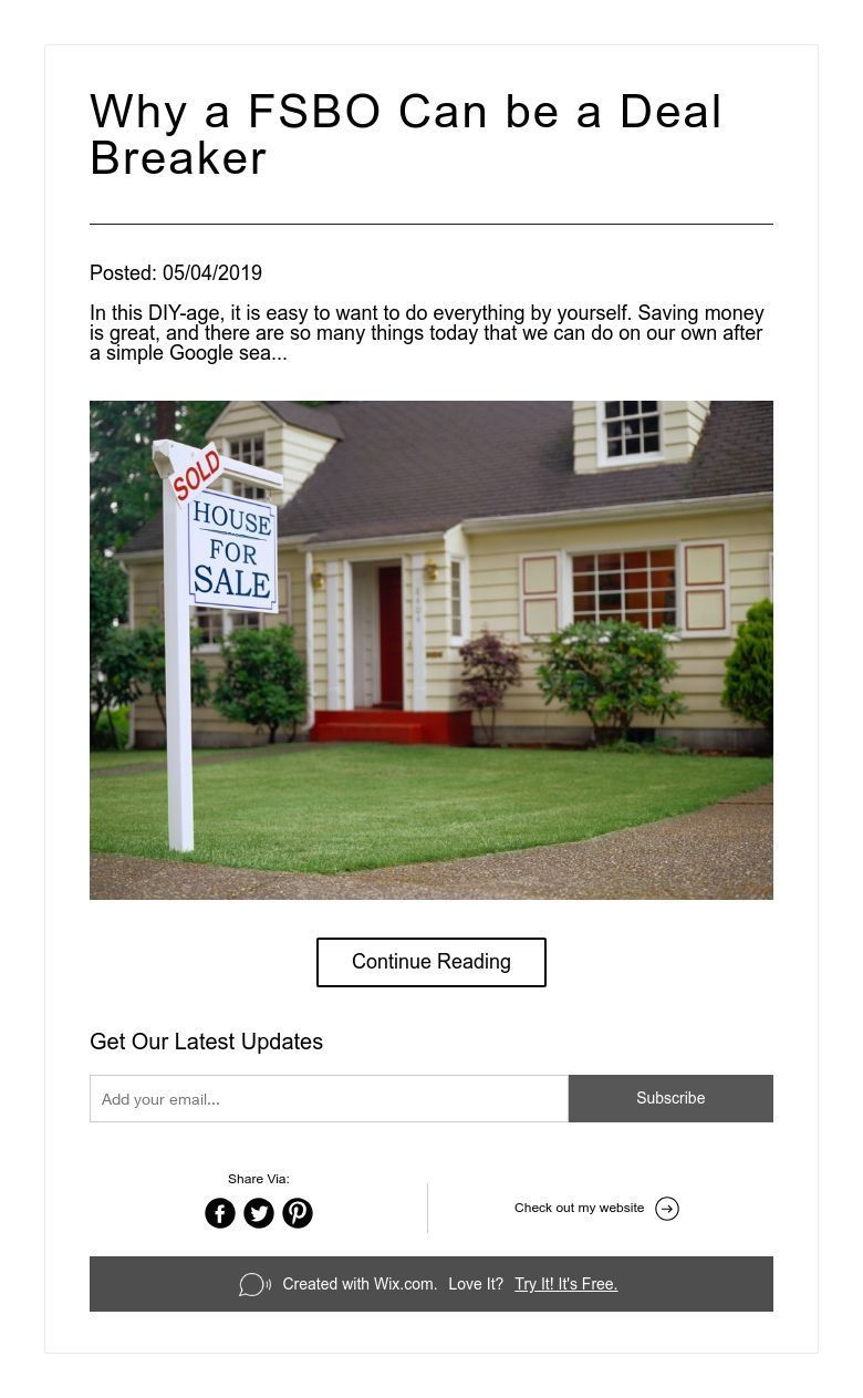 Why a FSBO Can be a Deal Breaker Fsbo, Selling house