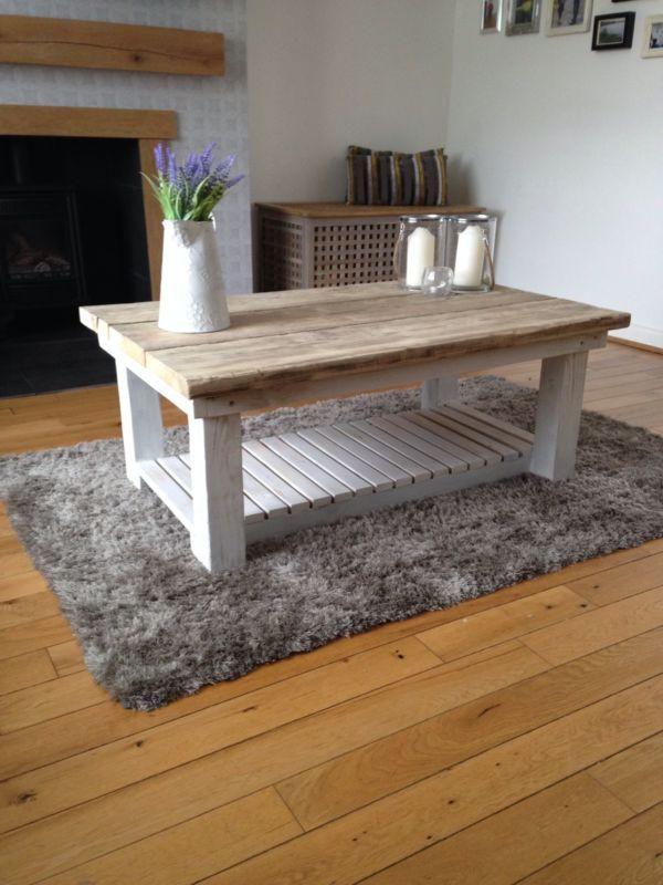 Handmade Reclaimed Coffee Table Scaffold Boards Bespoke Furniture Reclaimed Coffee Table Coffee Table Table