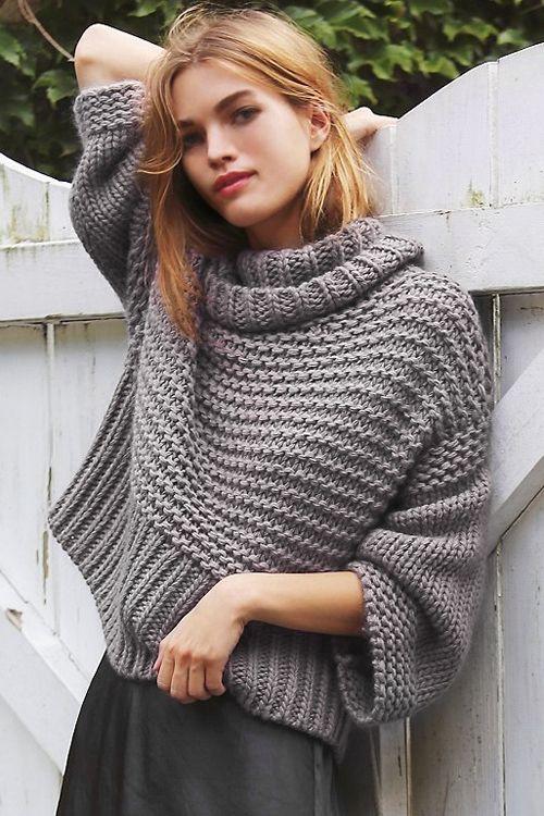 Split Turtleneck Pullover Sweater