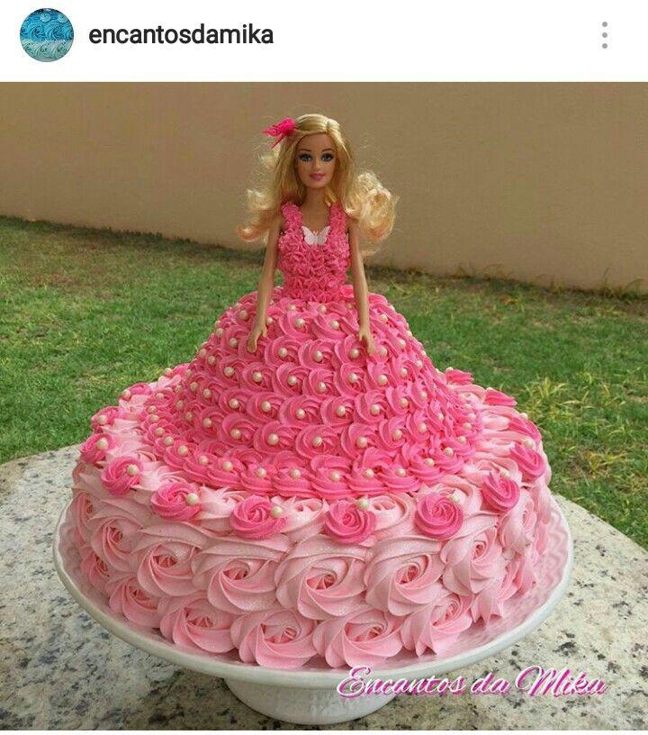 Barbie Cake Com Imagens Bolo De Boneca Decoracao De Bolo