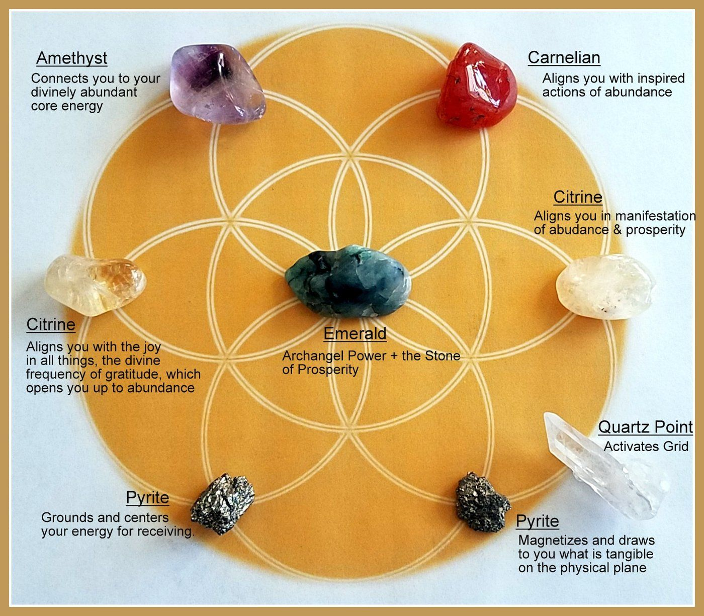 Image result for crystal grid layouts for abundance