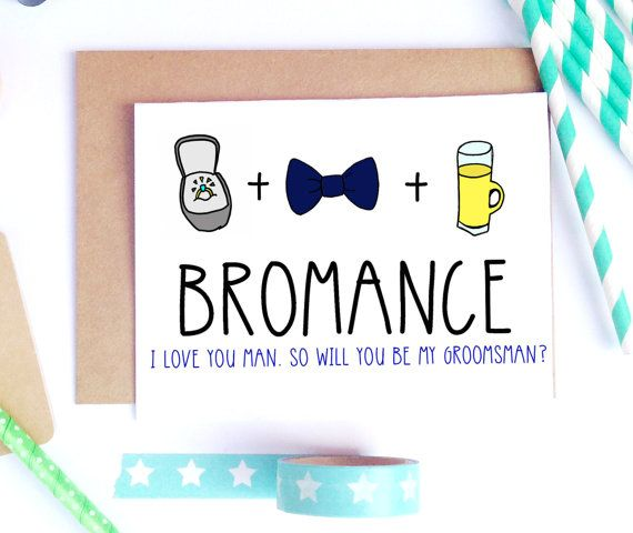 Best Man Wedding Gift Ideas: Funny Groomsman Proposal Best Man Card By LailaMeDesigns