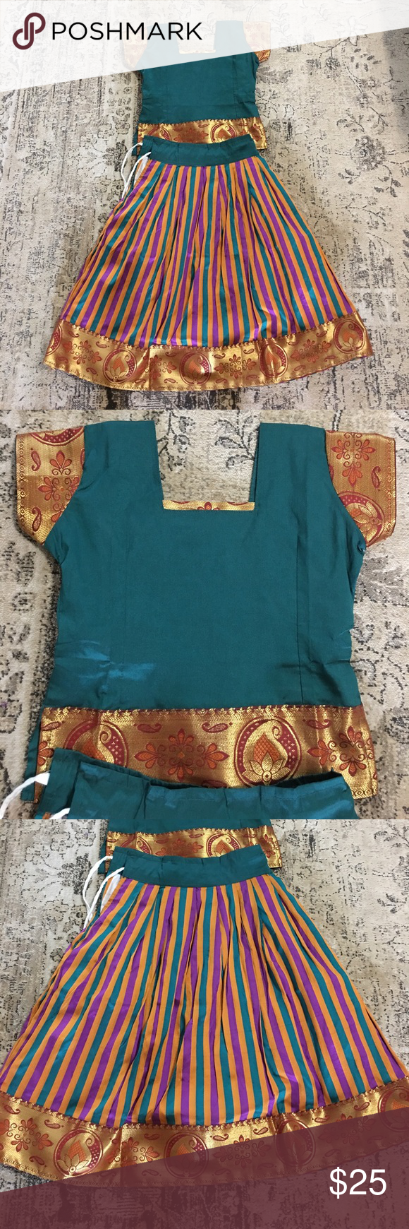 NWOT Boho chic outfit for lil princess Gorgeous outfit for your lil princess. My kids never wore it. Just good as brand new. Purchased from India. Fits for 2T to 3T Dresses Casual