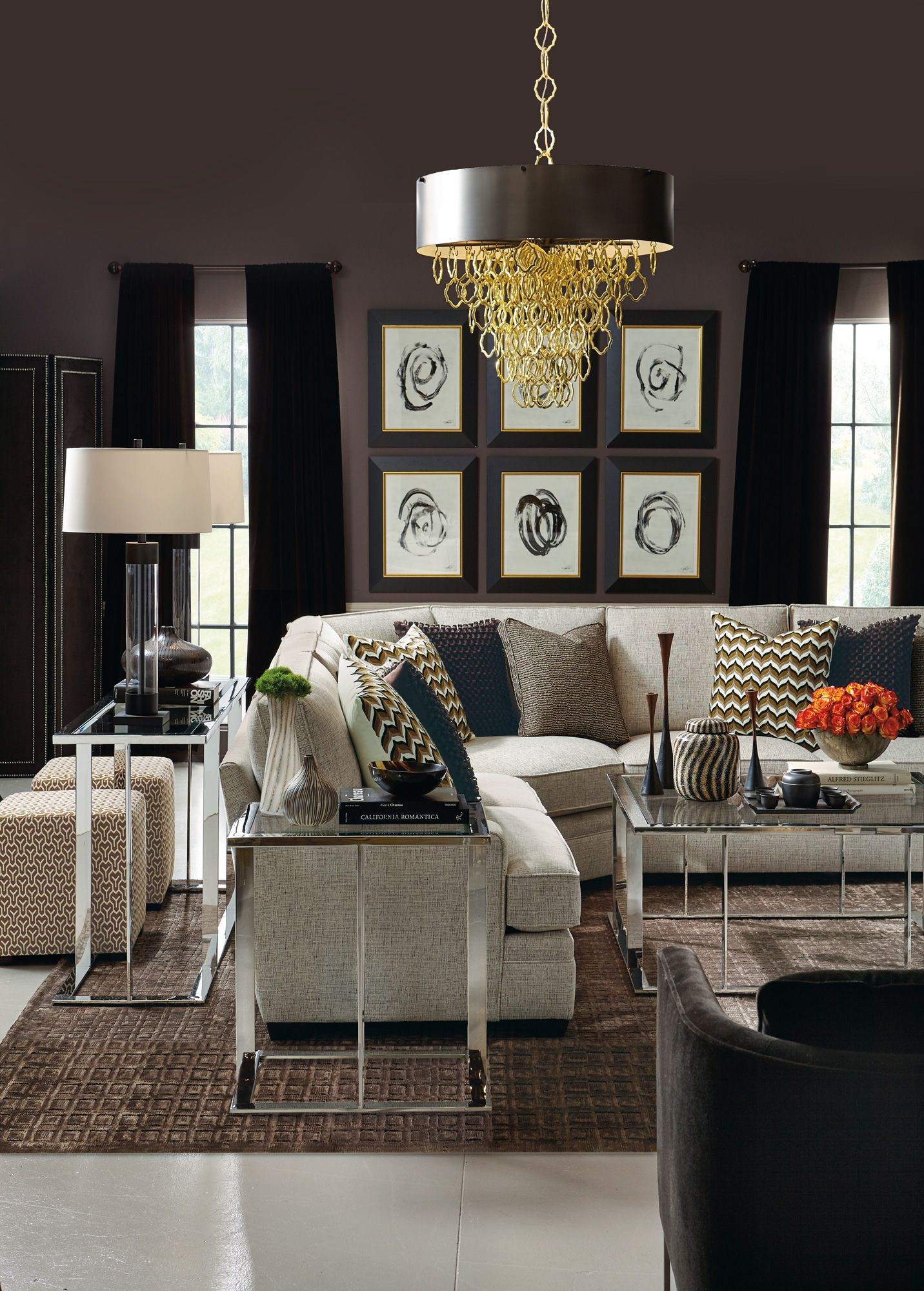Tables Room Divider Sectional And Ottoman All By Bernhardt Available At Ennis Fine Furniture Boise Reno Spokane Tricities Wa