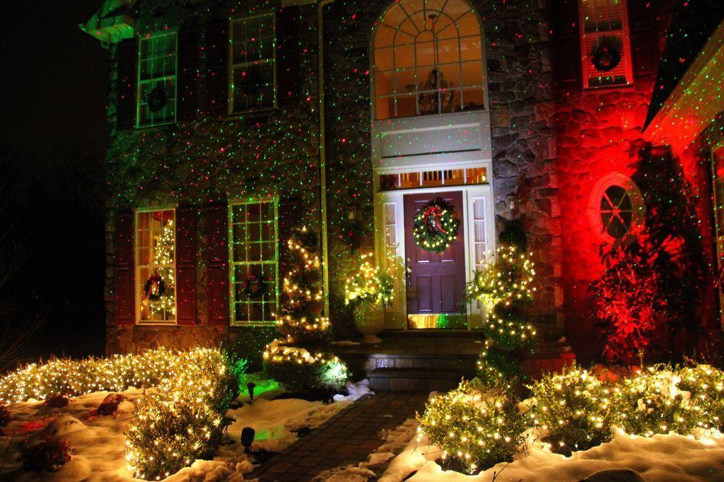 Outdoor Laser Christmas Lights Christmas Light Installation Green Christmas Lights
