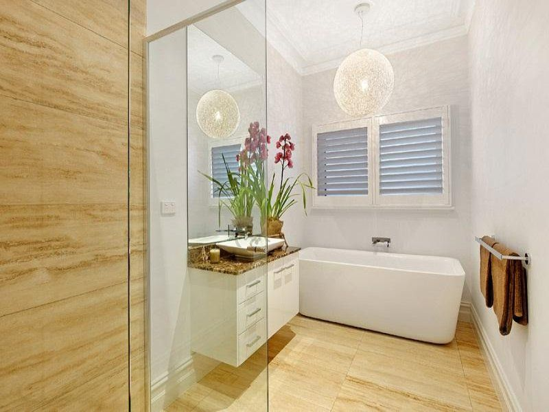 Bathroom Designs With Freestanding Baths modern bathroom design with freestanding bath using ceramic