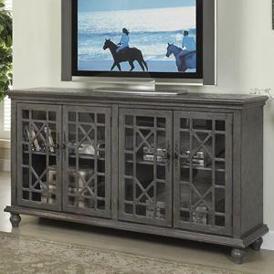 Gentil 4 Door Media Credenza In Joplin Texture Grey | Nebraska Furniture Mart