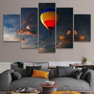 Hot Balloon Multi Panel Canvas Wall Art