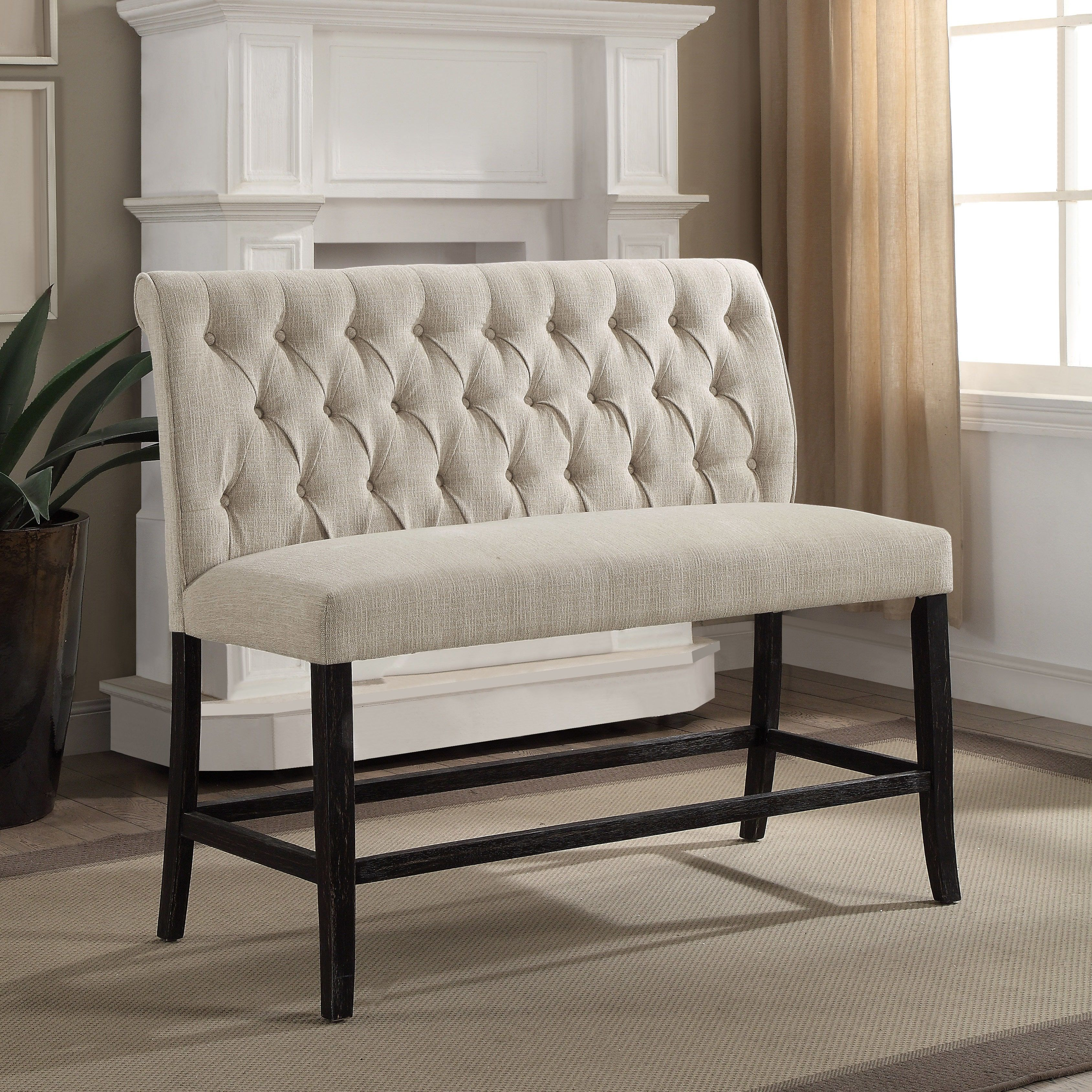 home tufted settee today jennifer garden bench taylor izzy product free overstock shipping