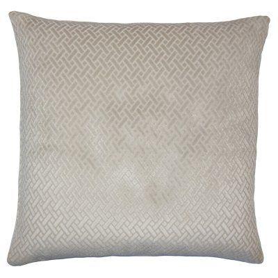 Pillow Collection Solid Geometric Design Decorative Pillow - P20-D-36166-GREY-P100