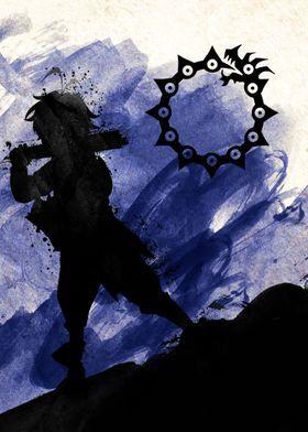 Metal Poster Meliodas Blue Dradgon