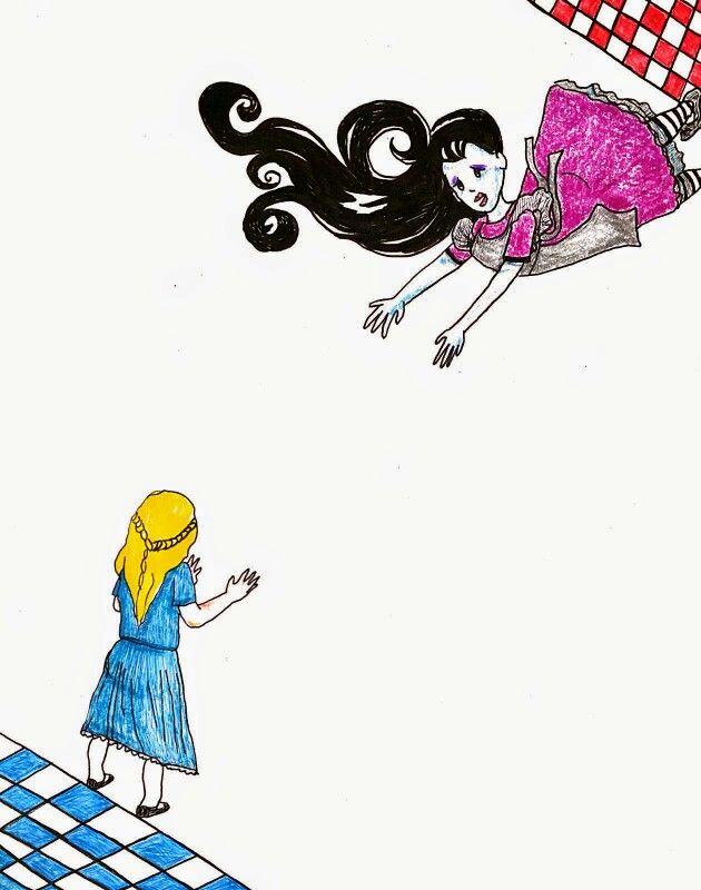 Alice & Malice on Wonderland illustration by Lisa M Perez