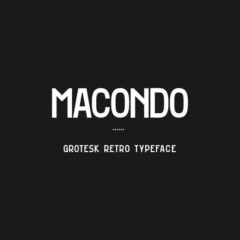 Macondo Grotesk - Free Typeface on Behance | Fontes