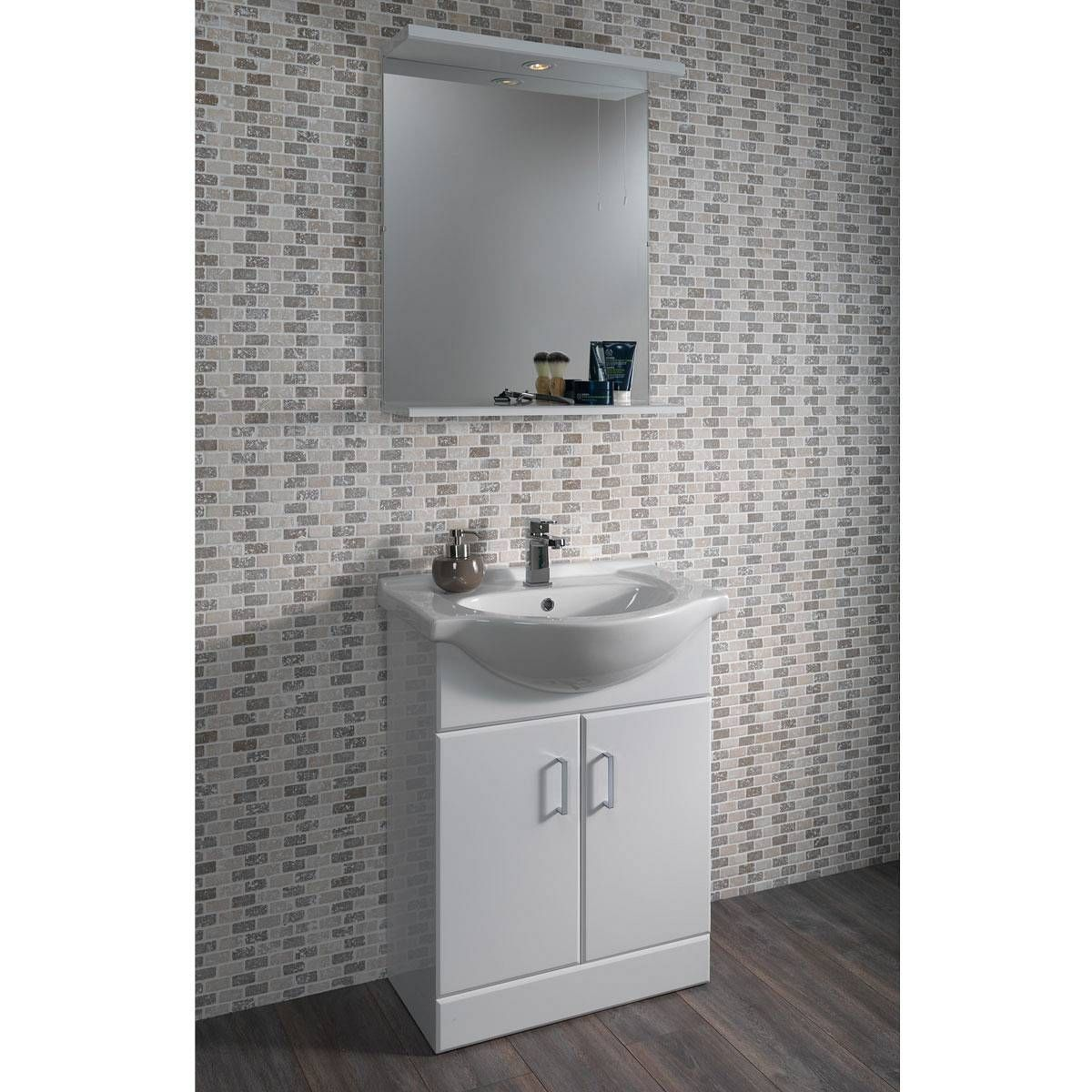 Sienna White 65 Vanity Unit Basin Now 119 99 Half Price White Bathroom Furniture Vanity Units Basin