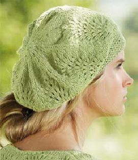 Beret Knit Pattern Free Easy : Lace Beret Knitting Pattern http://www.knittingonthenet ...