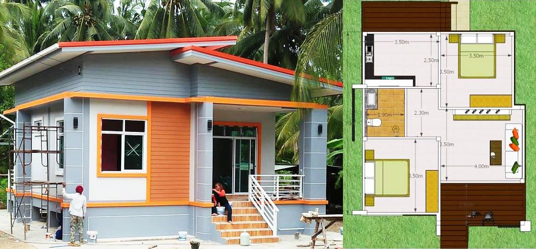 The House Plan For Today Is A Single Storey House With Simple Layout Reduced Costs For Construction Ideal Simple House Design Small House Layout Simple House