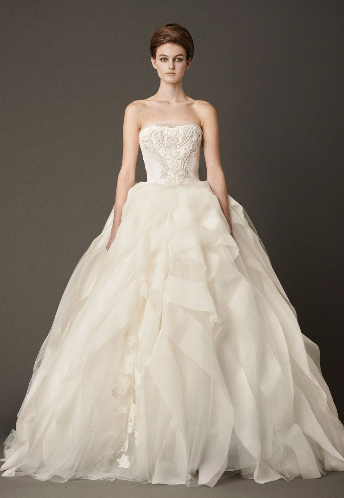 9c36fc9435d0a Vera Wang Liesel Size 2 Wedding Dress – OnceWed.com