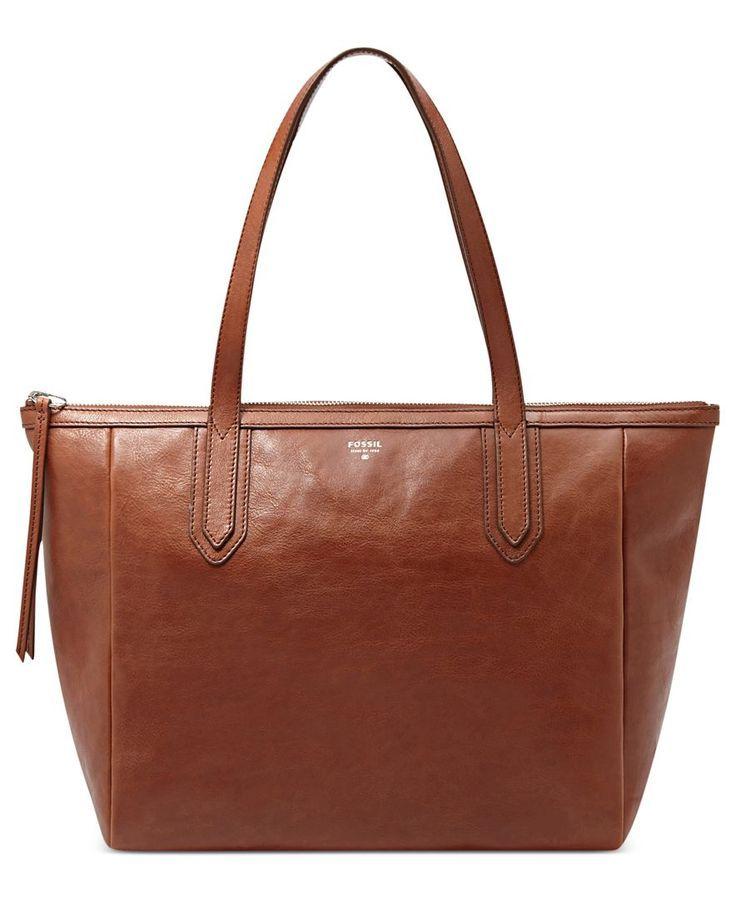 Fossil Handbag Sydney Leather Per Handbags Accessories Macy S Brown