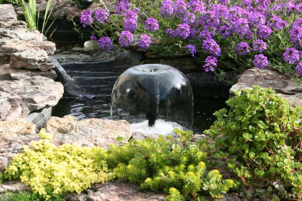 small space patios | ... Small pond with waterfall and fountain off the patio., Patios & Decks